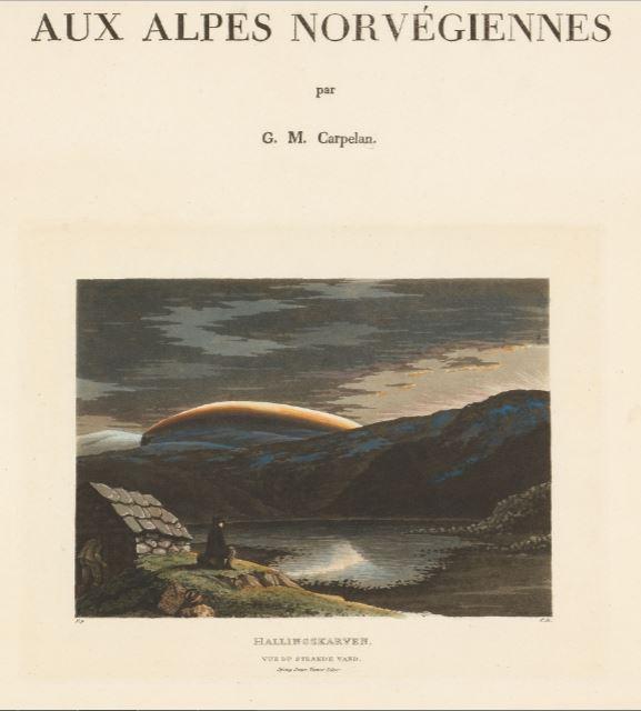 Håndkolorert akvatint og streketsning på papir Carpelan, Wilhelm Maximilian Mellom 1819 og 1821