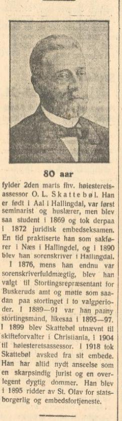 skattebøl 80 år morgenbladet 1924
