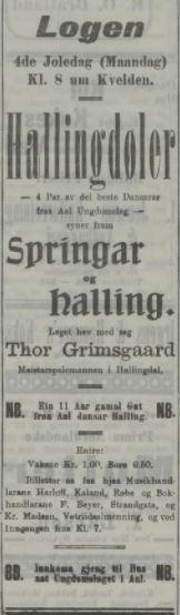 tor grimsgard Bergens tidende 1908.12.22
